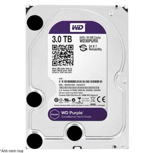 """Ổ cứng HDD Western Digital Purple 3TB 3.5"""" SATA 3 - WD30PURZ"""