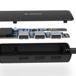 Bộ chia USB 2.0 tích hợp thẻ nhớ Orico H3TS-U2
