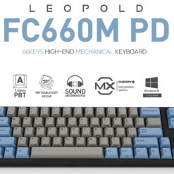 Bàn Phím cơ Leopold FC660M PD Blue Grey Black Switch