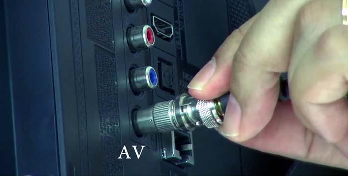 Kết nối camera analog với tivi