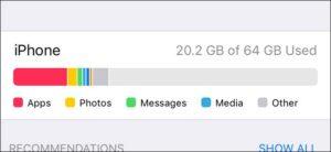 Cách giải phóng dung lượng trên Iphone